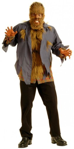 Fell-Kostüm WERWOLF 2 Unisex Twilight Wolf Damen Herren Verkleidung, (Werwolf Twilight Kostüm)