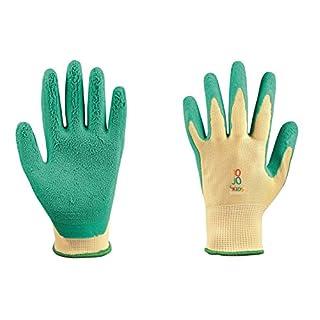 Junior Gants de travail pour les enfants de Jo Jo 4 Kids 5–7 et 8–11 ans + Gratuit, gants de protection, gants de jardinage pour enfants, travail Gants de jardinage (5-7 years)