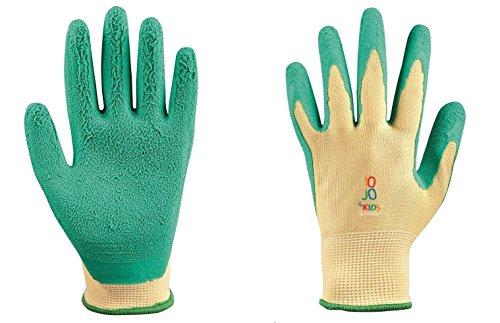 Junior Arbeitshandschuhe für Kinder JO-JO-4 KIDS 5-7 und 8-11 Jahre + GRATIS, Schutzhandschuhe , Kinder Gartenhandschuhe, Arbeits Garten Handschuhe