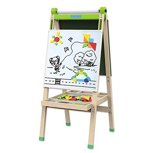 Einfach zu verwenden Pädagogische Staffelei löschen Board doppelseitige Kinder Zeichenbrett aus Holz Staffelei mit Spaß Bildung lernen zu spielen Spiel Spielzeug Kindergarten Master Schlafzimmer Zeich - Löschen-board Trockenen Magnet