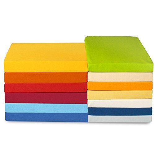 Jersey Spannbettlaken für Kindermatratzen 60x120 bis 70x140 cm Baumwoll Spannbetttuch ca. 180g/qm CelinaTex High-Line 0001202 silber grau