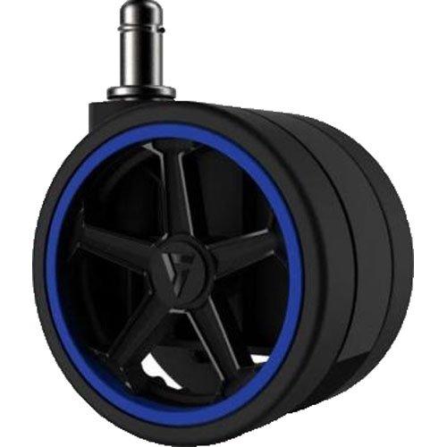 "Vertagear Racing Series 75mm/3""PU Caster ruedas azul Edition–5unidades"