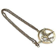 Ghiandaia - Collar de un arrendajo con las alas cerradas, color dorado envejecido–de Sinsajo de Los Juegos del hambre (Katniss Everdeen), alta calidad