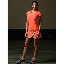 Camiseta padel Neon Coral mujer (S)