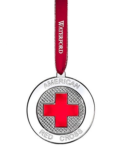 Waterford 2015 Crystal Red Cross Ornament by Waterford Waterford Crystal Cross
