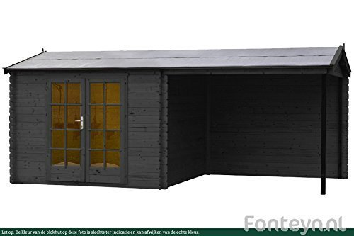Newsbenessere.com 41-igbddnAL Casetta giardino / Log cabin Fonteyn Irma tetto a Sella 580 x 290 cm impregnato ad Alta pressione
