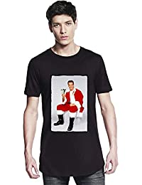 Arnold Schwarzenegger Santa Claus T-Shirt Christmas Present Herren Long T-shirt X-Large