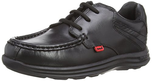 Kickers Boys Reasan Lace Y Shoes 112820 Black 6 UK, 39 EU