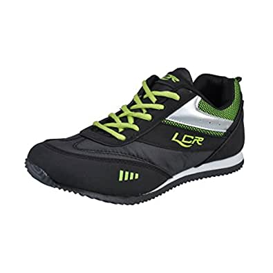 Lancer Men's Perth-2 Black Synthetic Sports Running shoes 7 UK