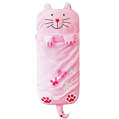DINGANG® Big Cartoon Bambini Ragazzi e Ragazze Sacco Nanna, Sacco a Pelo con Cuscino, 140cm*60cm Pink