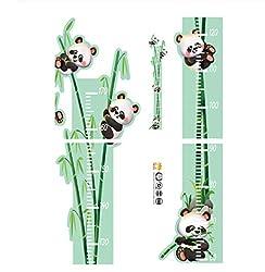 Little Deco Wandaufkleber Kinderzimmer M/ädchen Messlatte 150cm Panda Luchs Koala Rosa Wandtattoo Tiere Kinder Wandsticker Aufkleber Dekoration DL372