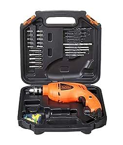 BLACK+DECKER HD400K50 Impact Drill Kit (Pack of 50), Orange