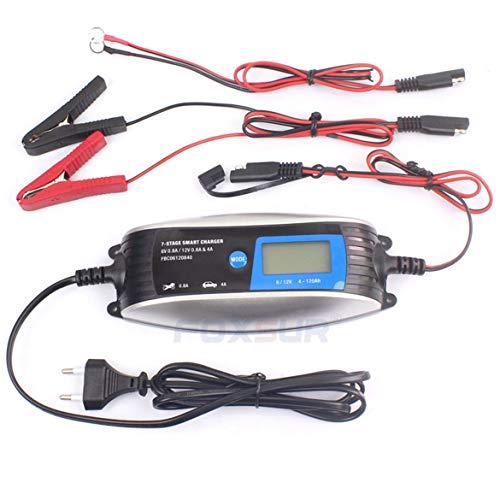 FOXSUR 6V 12V Caricabatteria automatico intelligente per auto e moto EFB EFB GEL Caricabatterie automatico per riparazione batterie (blu)