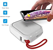 MIPOW MIPOW Portable Wireless Charger, Ultra-Compact Qi 10000mah Power Bank with High-Speed Charging Technolog