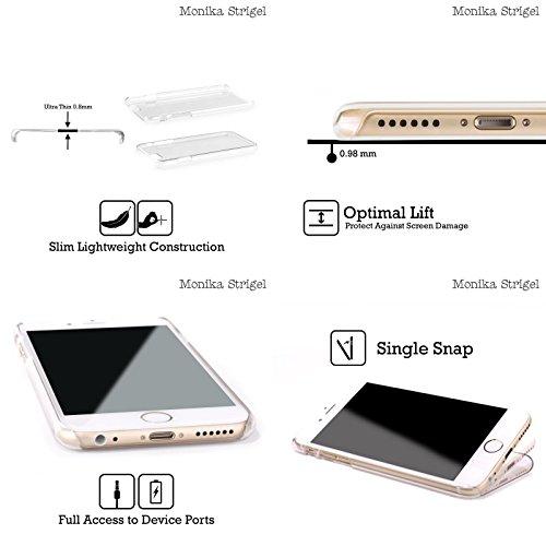 Offizielle Monika Strigel Mint Tier Glitzer Druck Ruckseite Hülle für Apple iPhone 3G / 3GS Mint