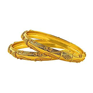 22k Yellow Gold Bangle Set in 100 Grams – WHP Jewellers