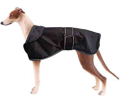Morezi Wasserdichte Hundejacke für den Winter, mit warmem Fleece-Futter, Outdoor-Kleidung, mit verstellbaren Bändern für mittelgroße und große Hunde - Windhund Mantel