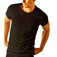 Socks Uwear Mens Thermal Short Sleeve T Shirt Vest Underwear - Black - Medium 38-40 Chest