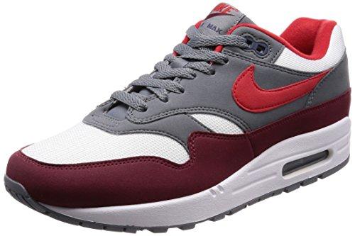 Nike Herren Air Max 1 Laufschuhe, Mehrfarbig (White/University Red 100), 43 EU