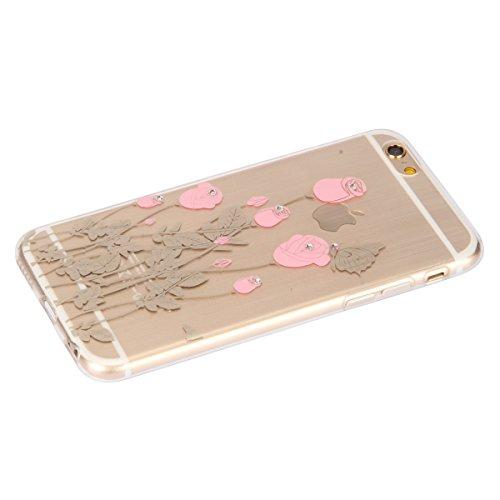 SainCat Coque Apple iphone 6 Plus/6s Plus,Housse Retour Hard Case Silicone Transparent Bumper Skin Shell,Brilliant Effect de Protection Pare-Chocs Complete Protecteurs,iPhone 6 Plus Transparente Clair se leva #2