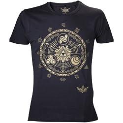 Nintendo Legend Of Zelda - T-Shirt di Zelda, colore: Nero, taglia: L