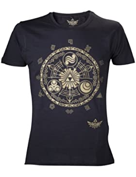 Nintendo T-Shirt -M- Zelda Golden Map, schwarz