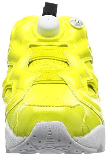 af68a507f64b2 Basket Reebok Instapump Fury Overbranded en vernis vegane jaune Gelb