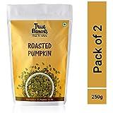 True Elements Roasted Pumpkin Seeds - Unsalted, 250gm (125*2)