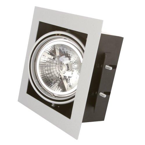 Empotrable Cardan LED plata con lámpara QR111 LED 10W GU10 230V incluida