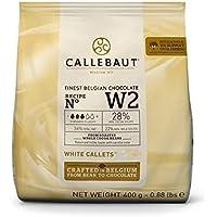 Callebaut N° W2 (28%) - Cioccolato Bianco Belga - Finest Belgian White Chocolate (Callets) 400g