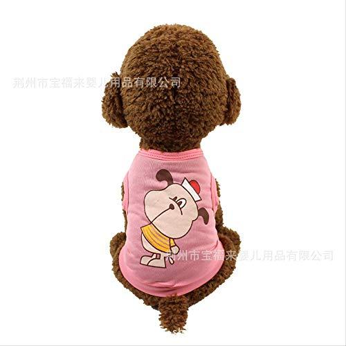 ZNHP Kleidung für Haustiere, Frühjahr/Sommer, dünne Teddy-Kleidung, Drache, Katze, VIP Welpen, Hundekleidung, Sommer, Kleid, dünn, Größe M, Begleiterfee (Rosa)