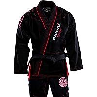 OKAMI Fightgear BJJ Gi Ronin Schwarz - Limited Edition - Herren Männer BJJ Gi Kimono Jiu Jitsu Anzug für Erwachsene