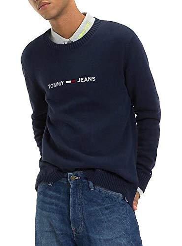 Preisvergleich Produktbild Tommy Jeans Sweatshirt Mann TJM Kleiner Logo-Pullo L Blau