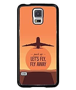Samsung Galaxy S5, Samsung Galaxy S5 G900I, Samsung Galaxy S5 G900A G900F G900I G900M G900T G900W8 G900K Back Cover Let'S Fly Fly Away Brown Red Sky Color Design From FUSON