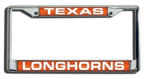 Tycon Texas Longhorns Laser Cut Chrome License Plate Frame