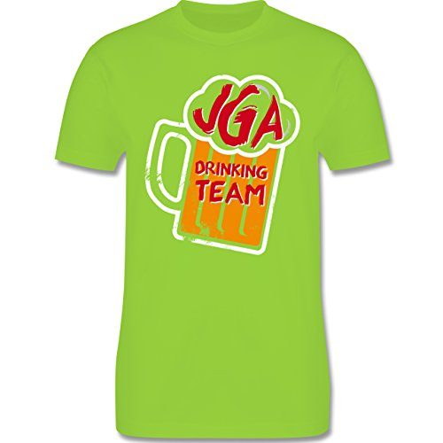 JGA Junggesellenabschied - JGA Drinking Crew Bierkrug - Herren Premium T-Shirt Hellgrün