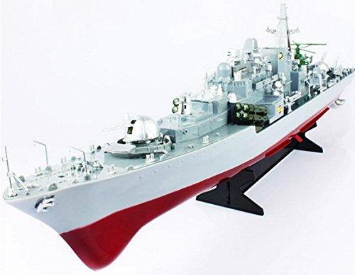9v Rc Led-lichter (RC Boot, Schiff Kriegsschiff Smasher, ferngesteuertes Schlachtschiff Flugzeug-Träger Zerstörer, Ready-To-Run, 820mm, Iinkl. Zubehör, Top-Design, 8km/h, Neu)