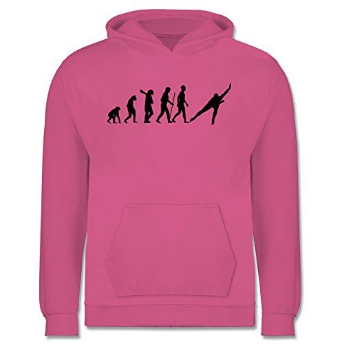 Evolution Kind - Eisschnelllauf Evolution - 12-13 Jahre (152) - Rosa - JH001K - Kinder Hoodie