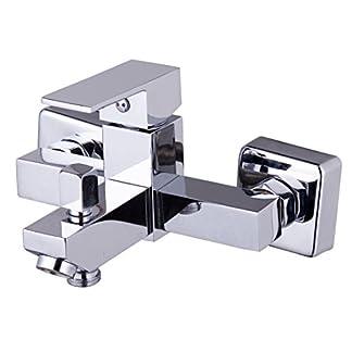 41 inkNJRyL. SS324  - DP Grifería - Grifo monomando de bañera (lavabo, bañera, ducha y bidet), serie arce