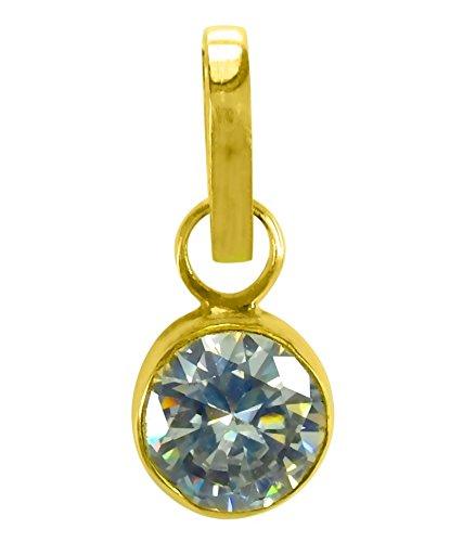 Cultured ZIRCON / TURASAVA Gemstone Pendant (PANCH DHAATU) OF 6.25 RATTI