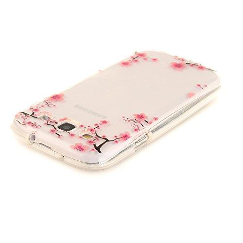 Samsung Galaxy S3 / I9300 hülle,MCHSHOP Ultra Slim Skin Gel TPU hülle weiche Silicone Silikon Schutzhülle Case für Samsung Galaxy S3 / I9300 (4,8 Zoll) - 1 Kostenlose Stylus (Schwarze Mandala Blume) Pflaume