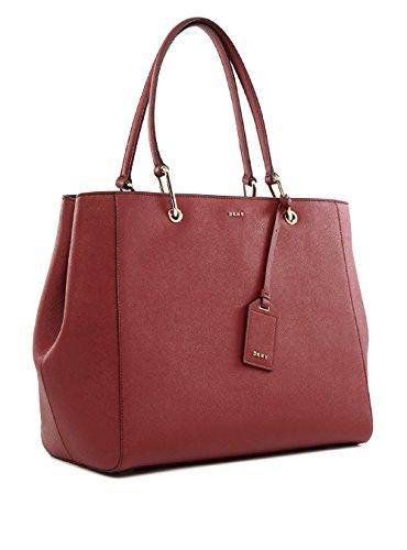 DKNY , Damen Schultertasche rot rot (Taschen Dkny Leder)