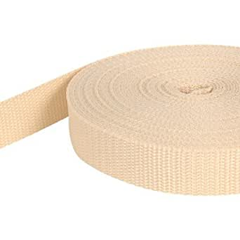 10m PP Gurtband - 30mm breit - 1,4mm stark - creme (UV)