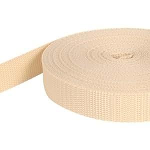 10m PP Gurtband - 15mm breit - 1,4mm stark - creme (UV)