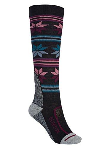 Burton Damen Ultralight Wool Snowboard Socken, True Black, M/L (Ski-socken Ultralight)
