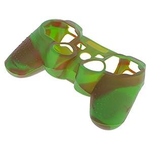 Haut Kasten Silikon Schutzhülle für Sony PS2 PS3 Controller Braun Grün
