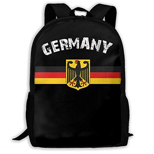 ADGBag Retro German Flag Fashion Outdoor Shoulders Bag Durable Travel Camping for Kids Backpacks Shoulder Bag Book Scholl Travel Backpack Kinderrucksack Rucksack (German Flag Bag)