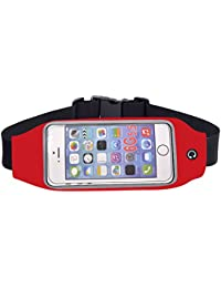 Running Belts Red, 5.5inch: RCYAGO Waterproof Sports Waist Bag Running Belt With Touch-screen Transparent Cover...