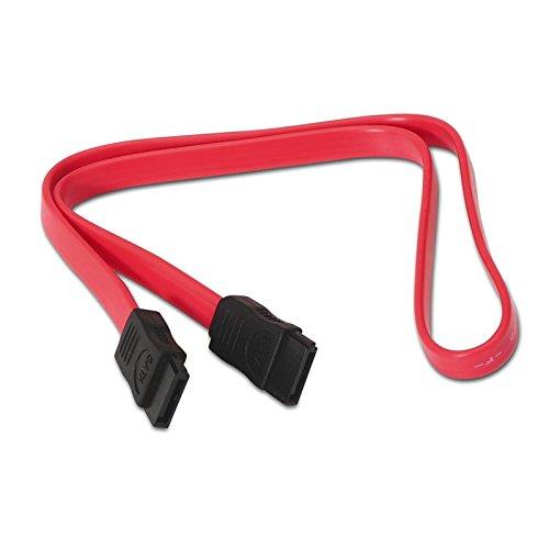 NANOCABLE 10.18.0101-OEM - Cable SATA datos para disco duro o dispositivos con conexión SATA, Rojo, 0.5mts, OEM