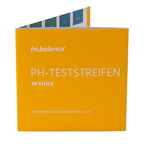 tri.balance pH-Teststreifen 99 Stück | Messbereich 5,6-8,0 pH | Für die pH-Wert Messung im Urin oder Wasser | Zur Kontrolle des Säure-Basen-Haushalts